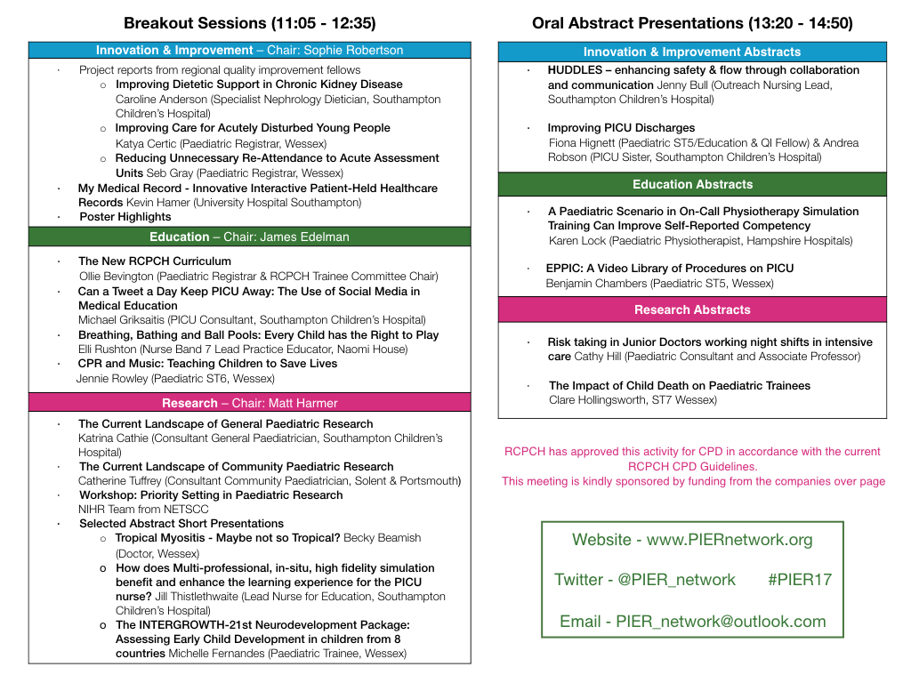 PIER Conference Programme Page 2